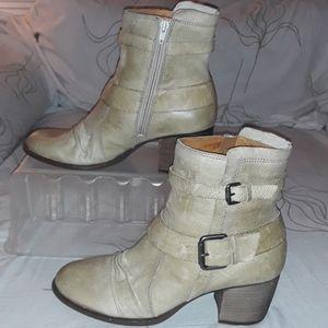 NAYA Virtue Tan double buckle ankle boot